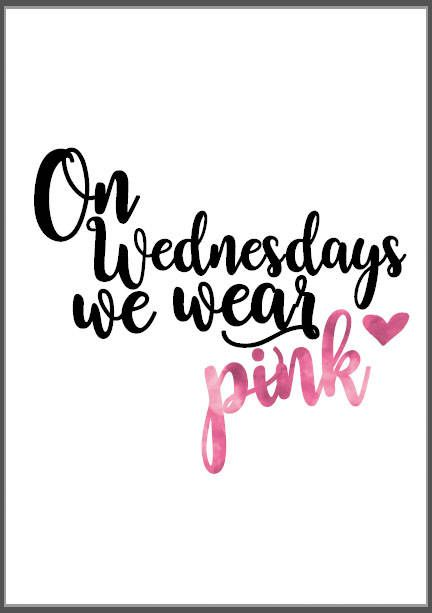 Mean Girls Pink Quote