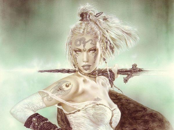 Luis Royo Fantasy Art Warrior Women