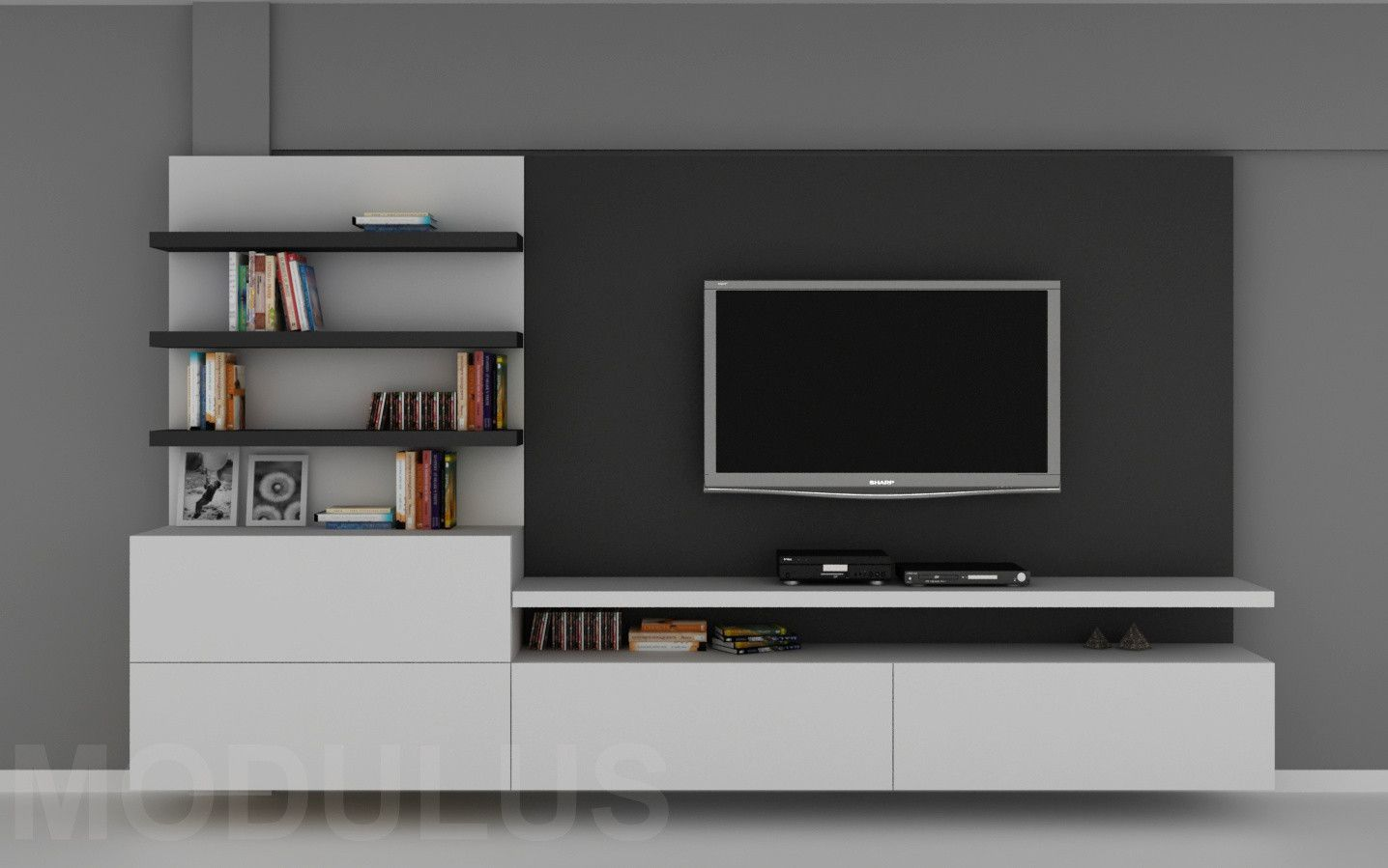 Muebles Led Modulares Para Living Tv Lcd Led Wall Unit Muebles