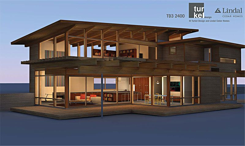 TD3 2400 By Turkel Designs For Lindal Cedar Homes And The Dwell