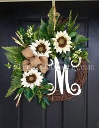NEW! Front Door Wreaths, Fall Door Wreaths, Farm House ...