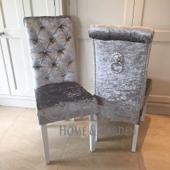 Dining Chair Covers Velvet Pembrook Corp Crushed With Crystal Buttons And Lion