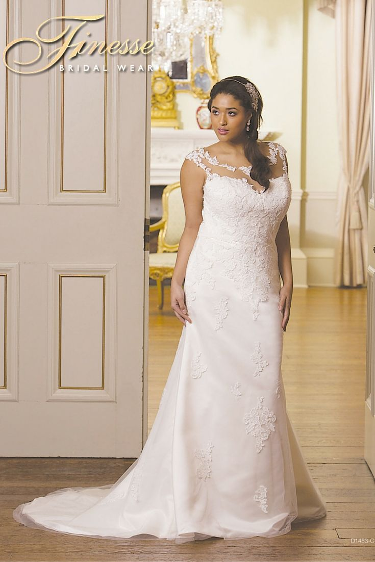 Gorgeous Fuller Figure Wedding Dress with flattering lines