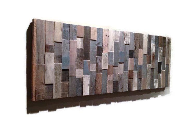 Reclaimed wood wall art abstract modern sculpture hand made also rh pinterest