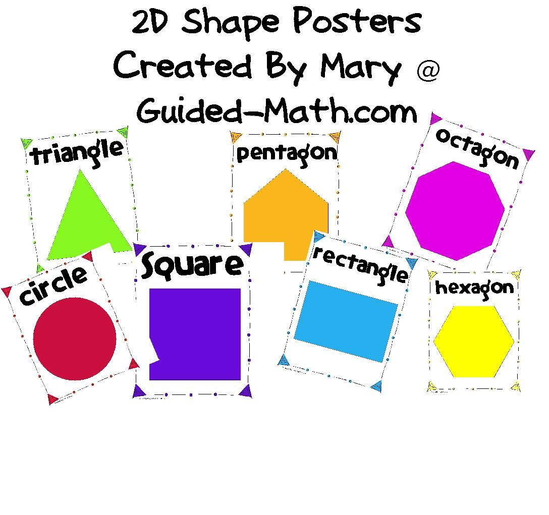 Guided Math 2d Shape Posters