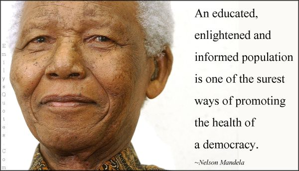 Educated Enlightened And Informed Population Of