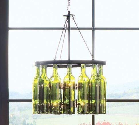 Wine Bottle Chandelier Pottery Barn I Need To Make This Cause Ain T