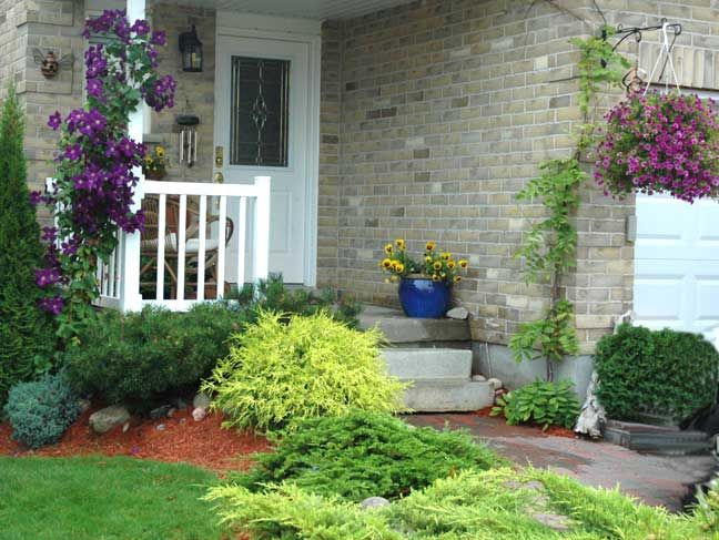 Landscaping Ideas For Front Of House Ranch Front House Sm