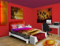 Tropical Sunset Wall Murals, take a vacation from your ...