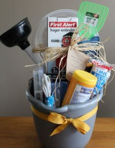 Housewarming bucket partybasket ideasnyxhampers  also best house warming party images on pinterest rh