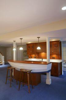 Nautical Themed Home Bar