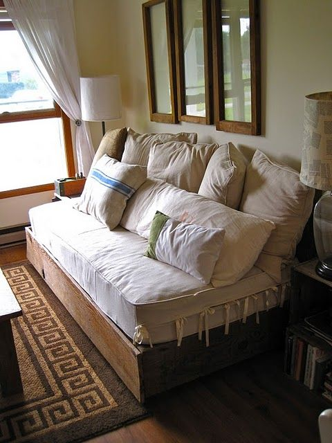 Make Your Own Couch Using A Twin Mattress Would Be Comfortable Good Idea For