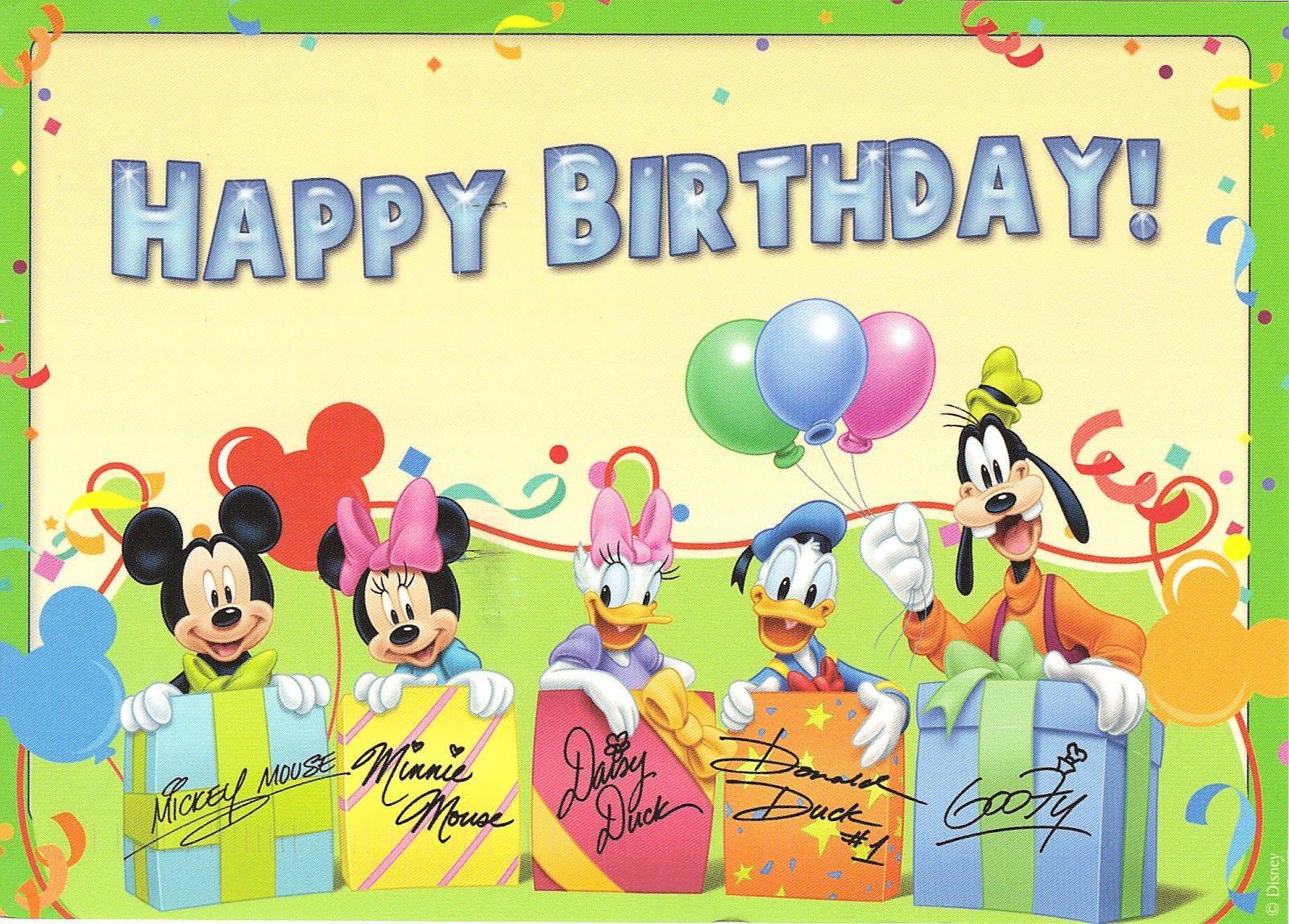 Disney Birthday Cards Facebook