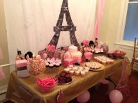 Paris themed baby shower dessert and candy table ideas   # ...