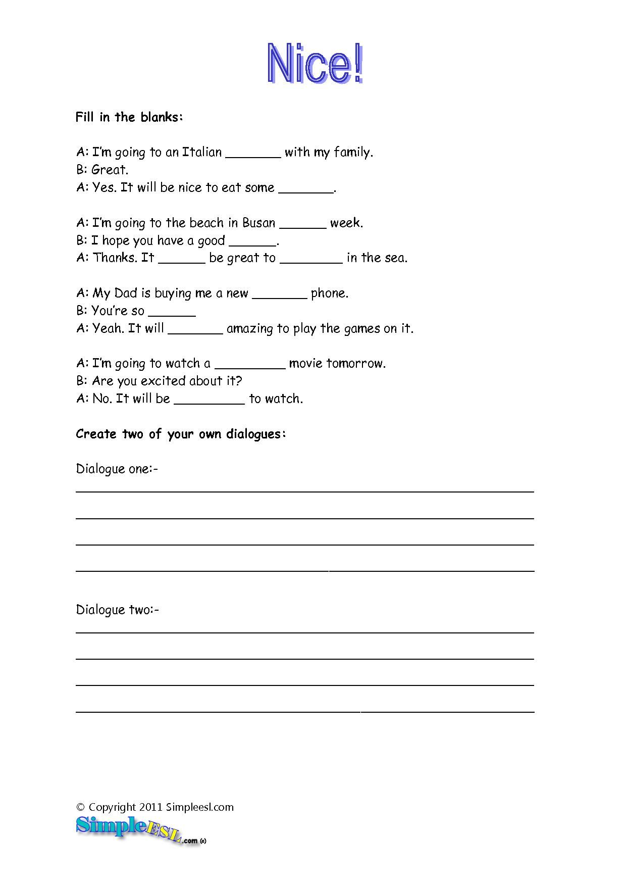 Arts Worksheets