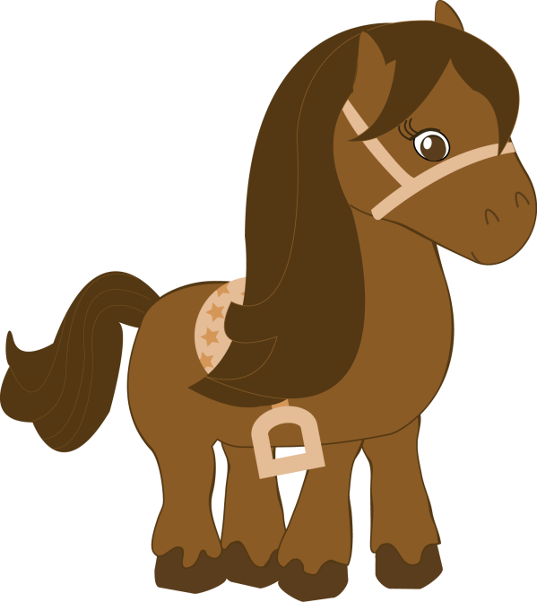 Cute Cartoon Baby Horse Clip Art