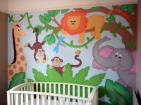 Hand-painted Jungle wall mural for the nursery | okul ...