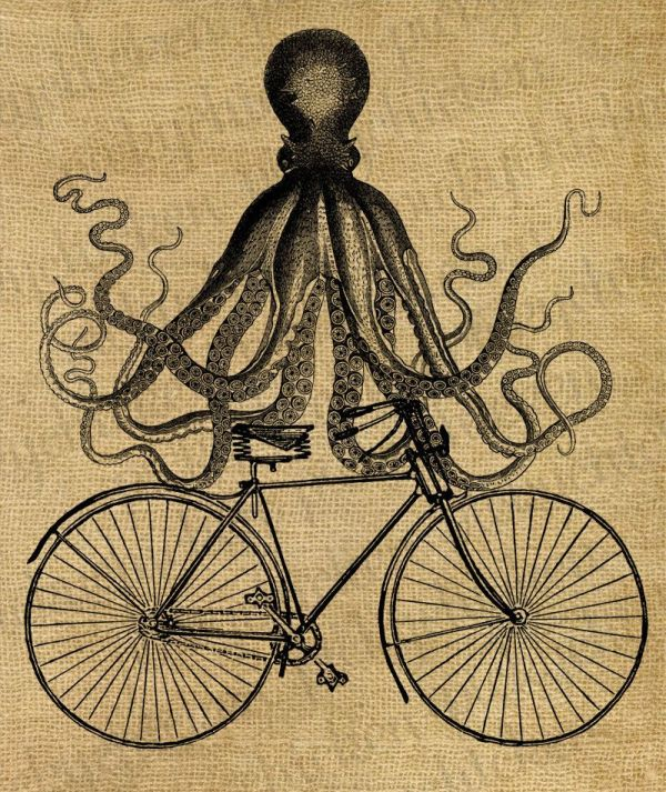 Octopus Bike - Vintage Partly Steampunk Victorian