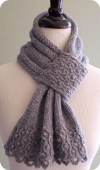 Drifted Pearls Scarf Knitting Pattern . Nice pattern for ...