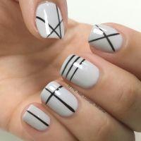 Geometric lines nail art design | Nail Art | Pinterest ...