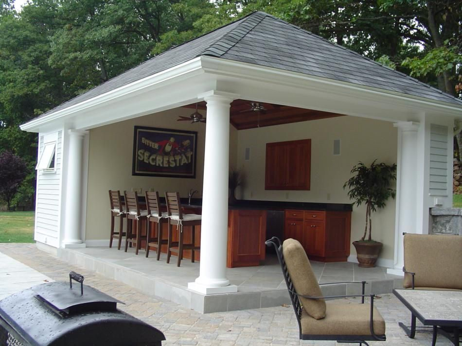Popular Pool House Designs And Popular Pool Side Cabana Plans To