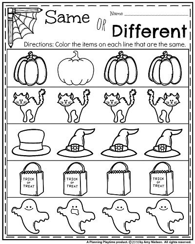October Kindergarten Worksheets  Esl, Engelsk Og Skole