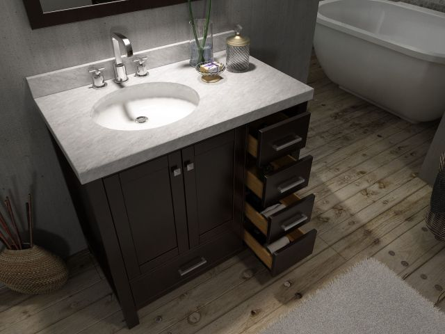 42 Bathroom Vanity Canada With Top With fset Sink