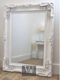 Louis Style White Ornate Rectangle Antique Wall Mirror 4 ...