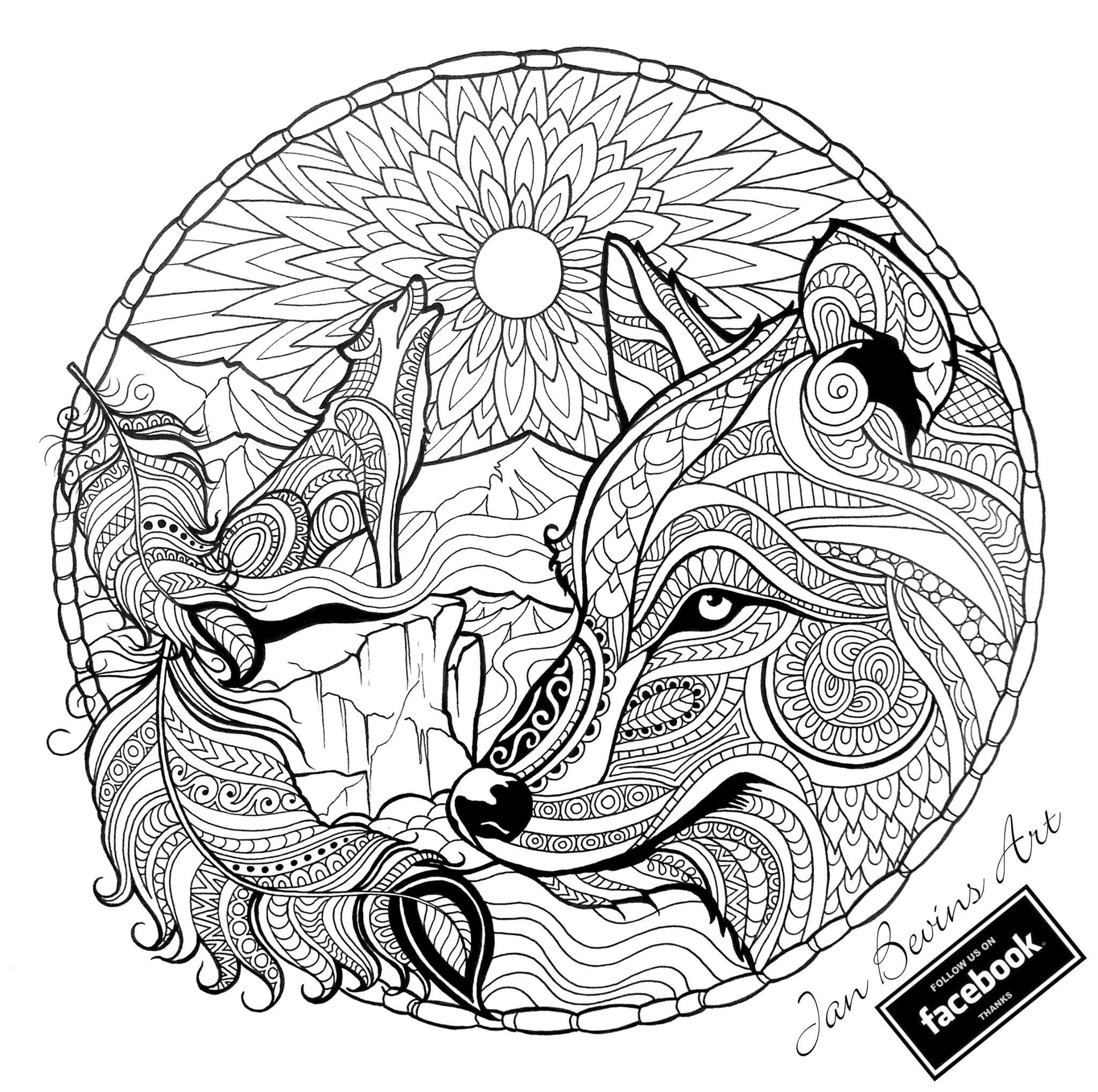 Native Wolf Coloring
