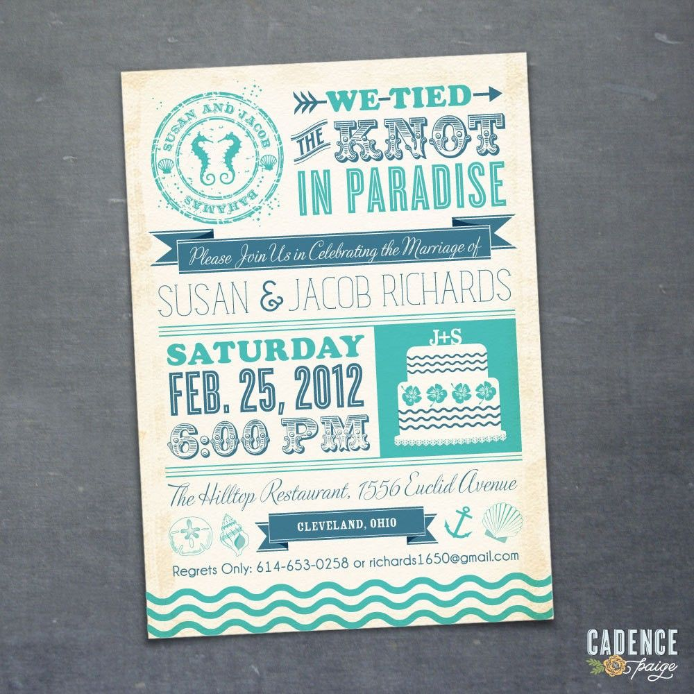Wedding Reception Invitations Wording After Destination