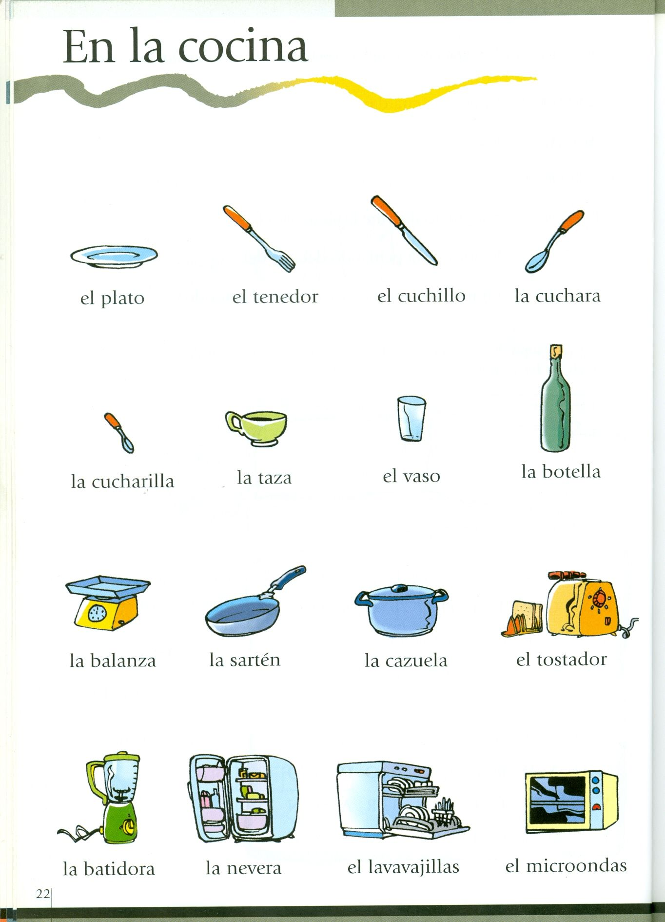 Vocabulario De Cocina En Ingles En La Cocina Vocabulario Español Spanish Vocabulary