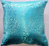 Turquoise Throw Pillow Cover Satin Brocade by sassypillows ...