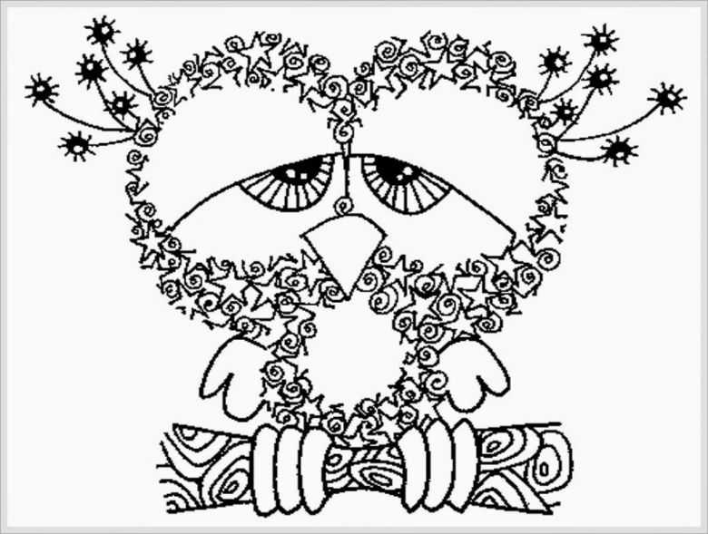 owl coloring pages for adults 03   let's color   pinterest   owl