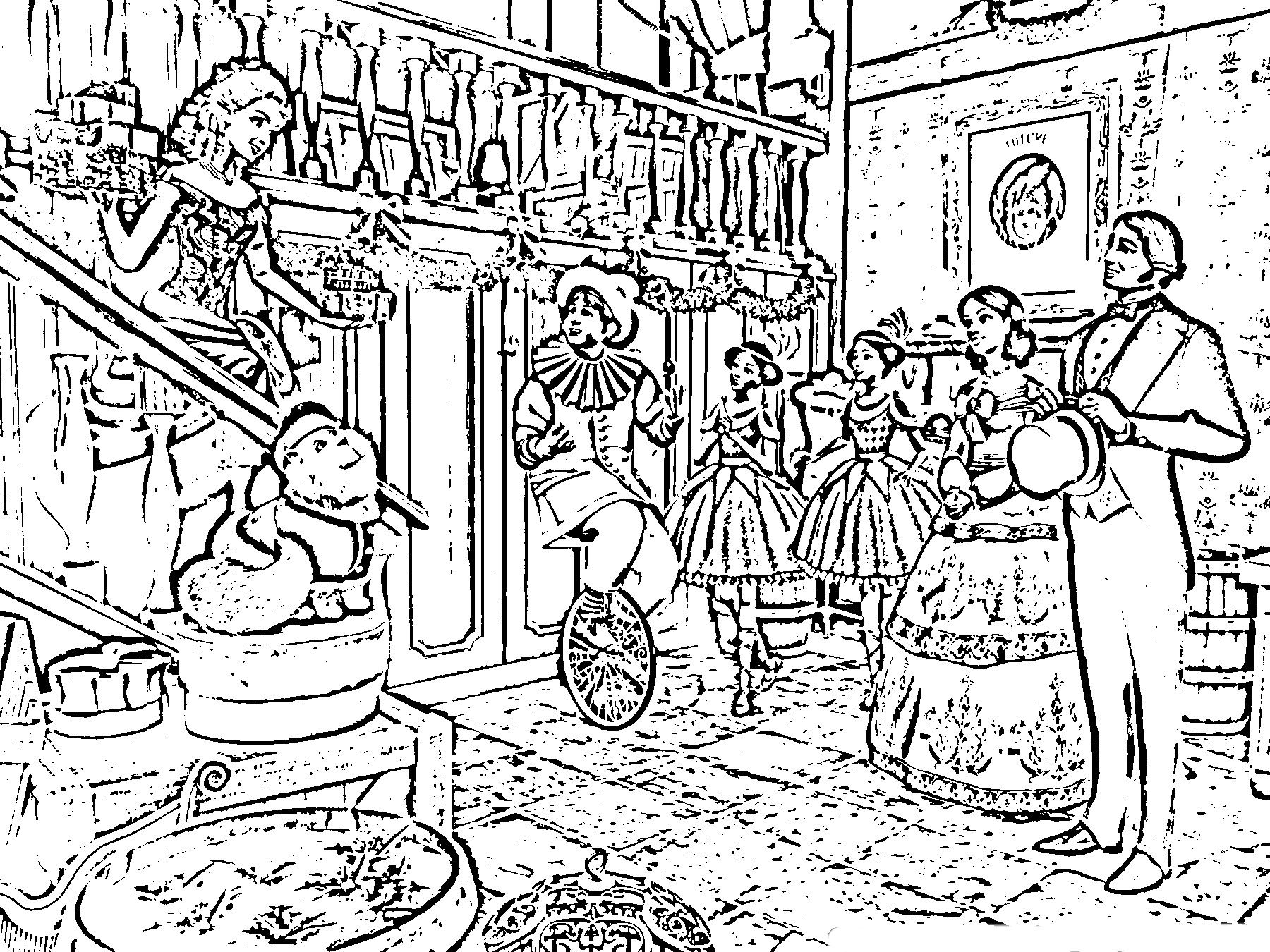 A Christmas Carol Coloring Pages To Print