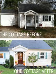 Cottage House Exterior Before and After