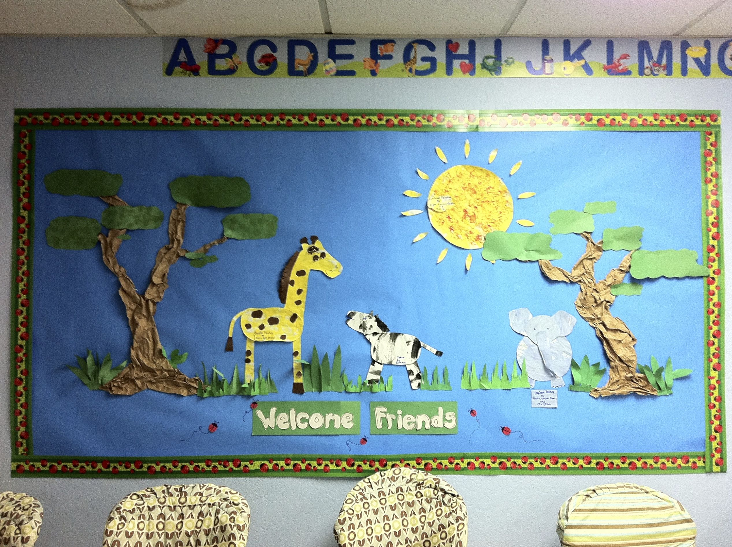 Zoo Animal Bulletin Board Zebra Giraffe Elephant By Janet