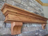 Fireplace Mantel Shelf Summit Corbels Knotty Alder ...
