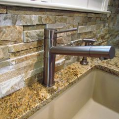 Natural Stone Backsplash Kitchen Cabinets Colorado Springs For Interior