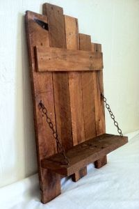 RUSTIC CHAIN SHELF Handmade Reclaimed Pallet Wood Home ...