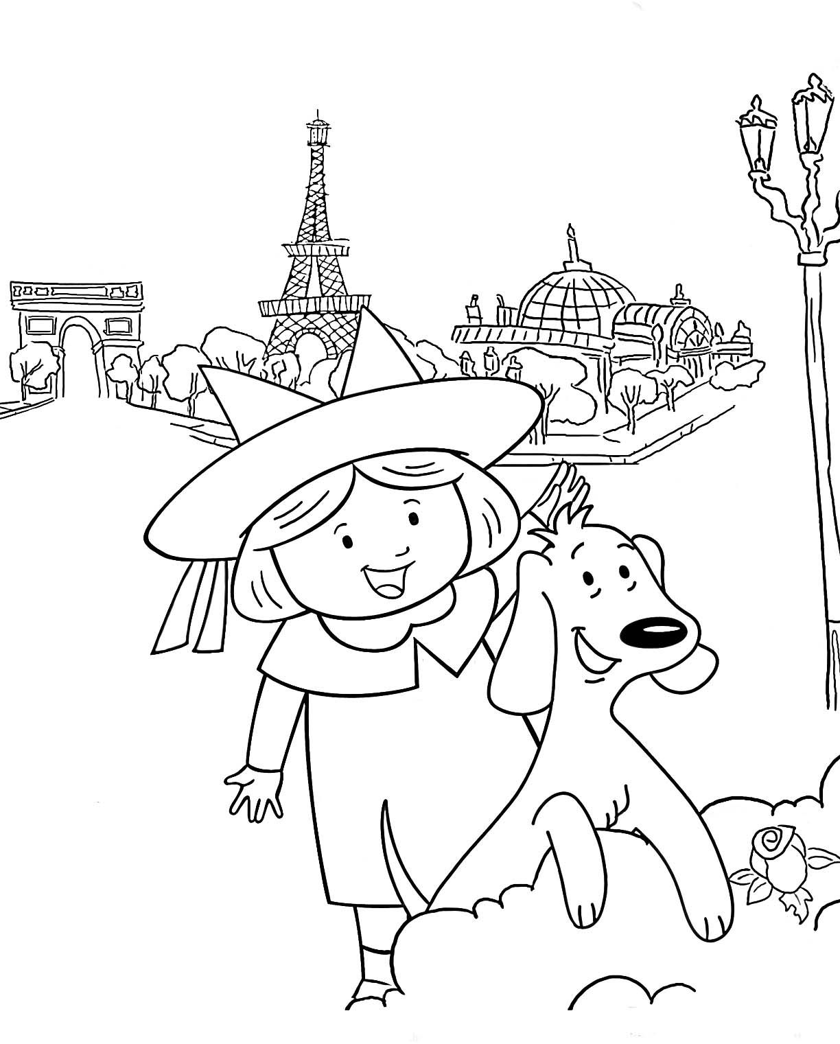Madeline In Paris Coloring Pages