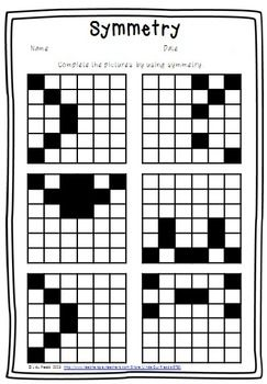 FREEBIE!! This is a fun symmetry worksheet. Complete the