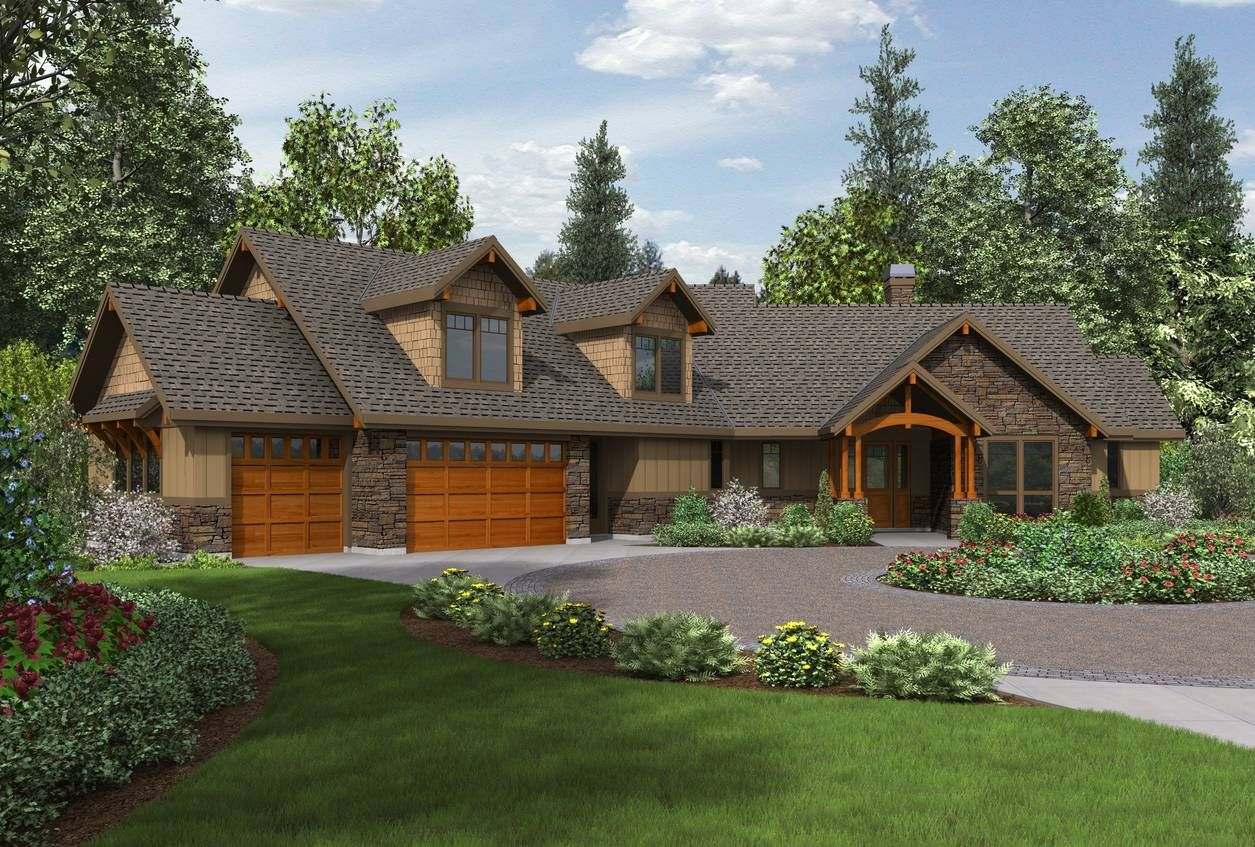 Mascord House Plan 22190 House Plans Craftsman Style Houses And