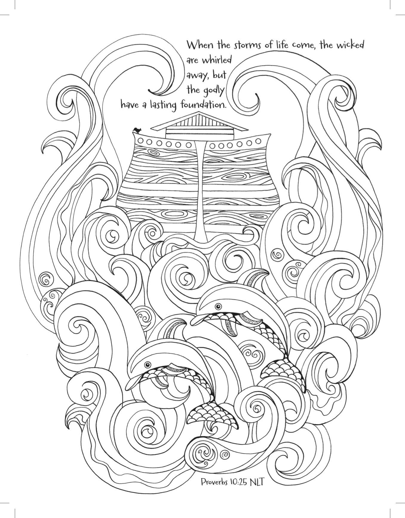 Noah's Ark: Coloring the Great Flood (Majestic Expressions