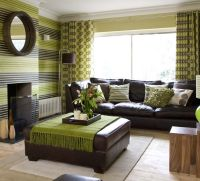 green and brown colors for interior design