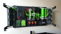 Dual liquid water cooled wall mounted computer | Rigs, PC ...