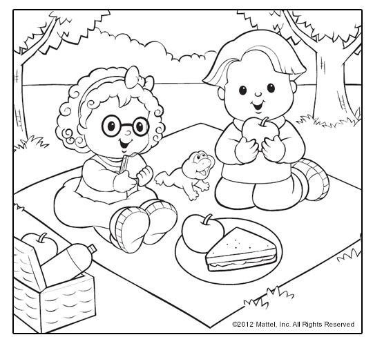 Little People® Coloring Pages! Sweet summertime themes for