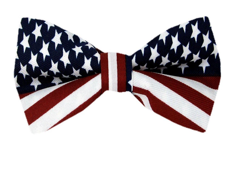 American Flag Men's Bow Tie USA Patriotic BOWTIE at Amazon