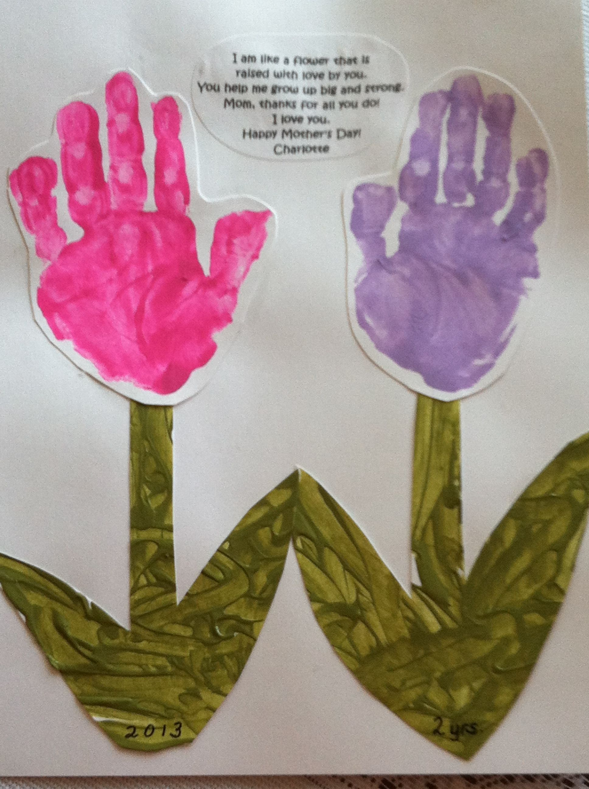 Mother S Day Handprint Flowers