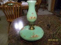 Vintage Glass Pancake Lamp Jadeite Fenton ? Jefferson ...