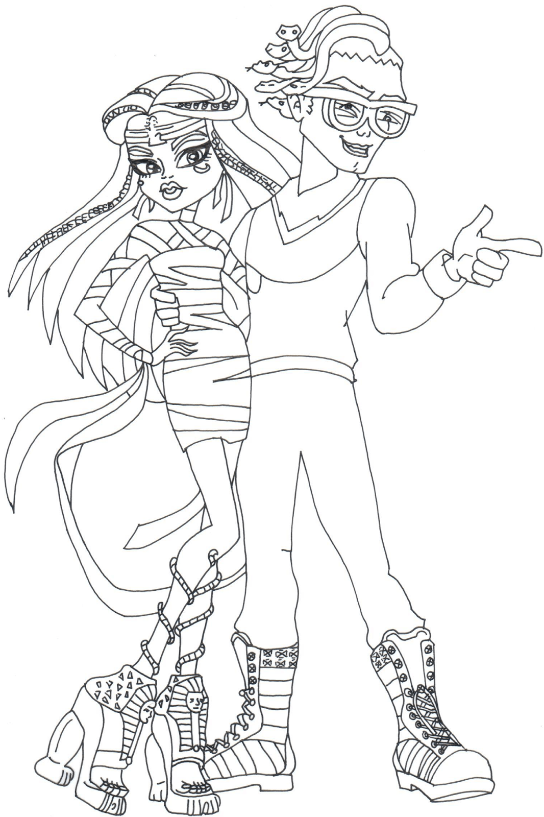 Boo York Cleo Deuce Monster High Coloring Pages